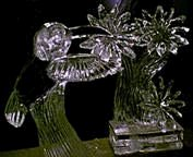 Click on image to view full size [Image - Hummingbird with Ice Flowers]